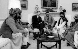 Reagan hanging with his Taliban friends