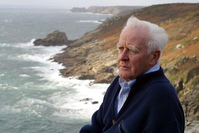 John le Carré... I mean... David Cornwell at his home in Cornwall